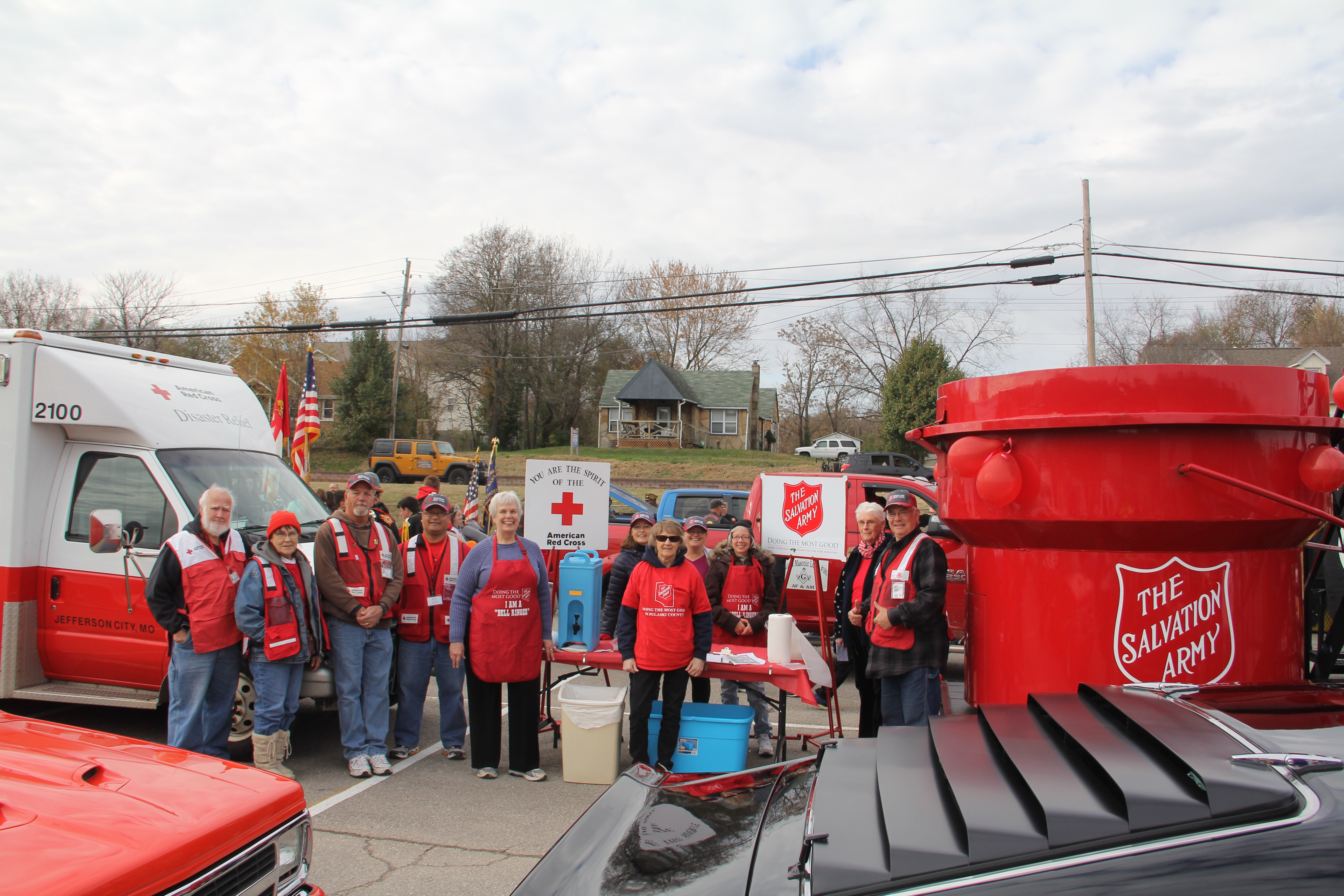 Partnering with the Red Cross to Serve Hot Coffee and Cocoa